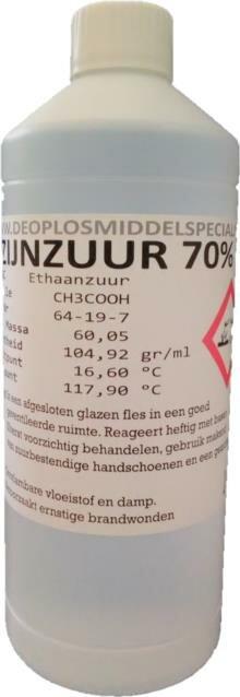 Azijnzuur 70% 1L