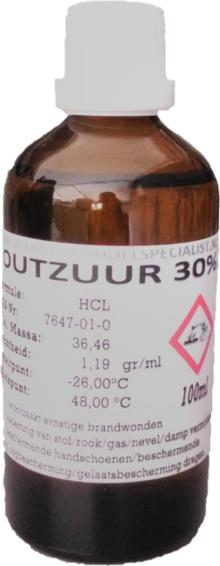 Zoutzuur 30% 100ml