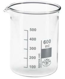 Bekerglas Simax laag 600ml