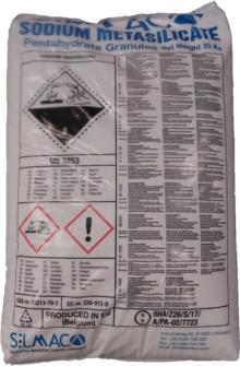 Natriumsilicaat (droog) 25Kg