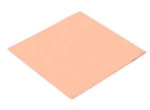 Koper plaat 0.8x100x100mm